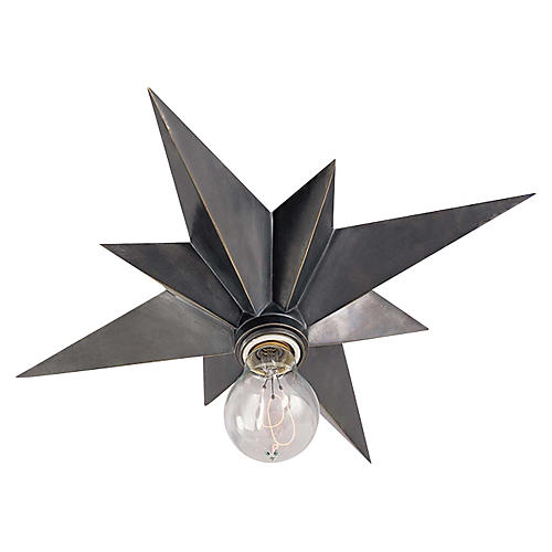 Star Flush Mount, Bronze