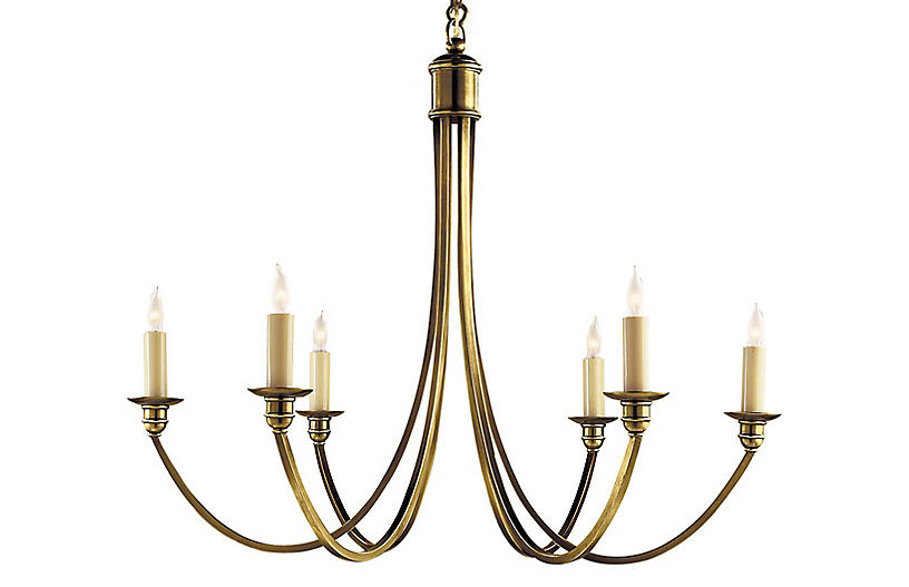Venetian Medium Chandelier, Brass
