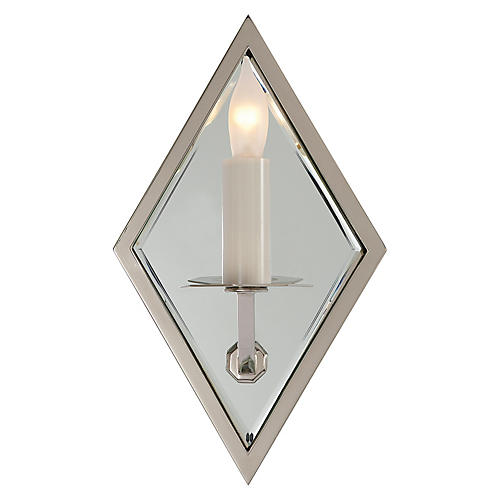 Jenna Mirrored Sconce, Nickel