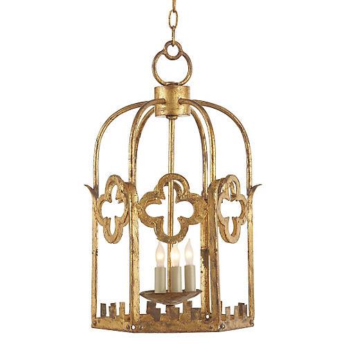 Baltic Lantern, Gilded Iron