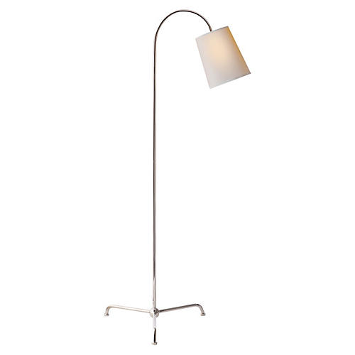Mia Floor Lamp, Nickel