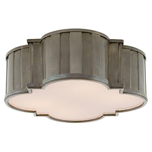 Tilden Flush Mount, Nickel