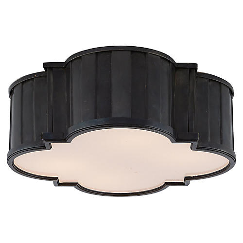 Tilden Small Flush Mount, Bronze