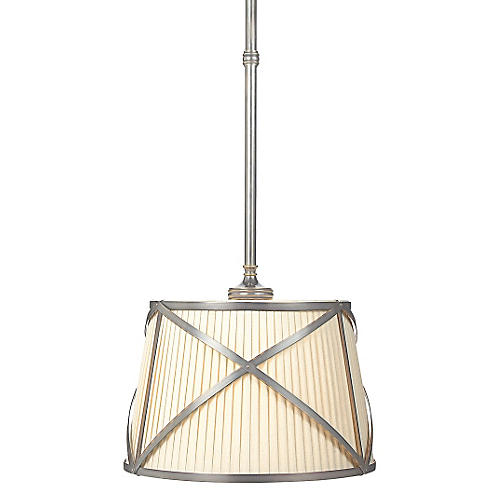 Grosvenor Single Pendant, Nickel