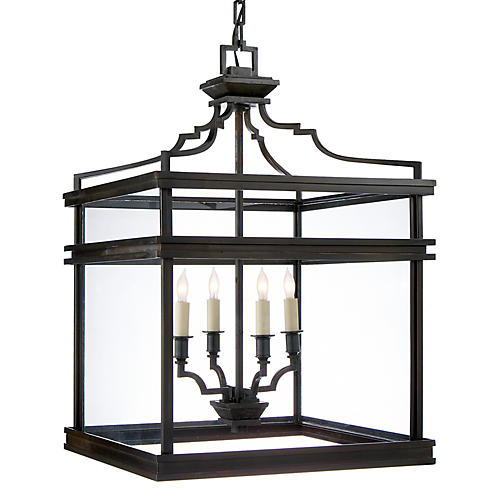 Mykonos Medium Lantern, Aged Iron