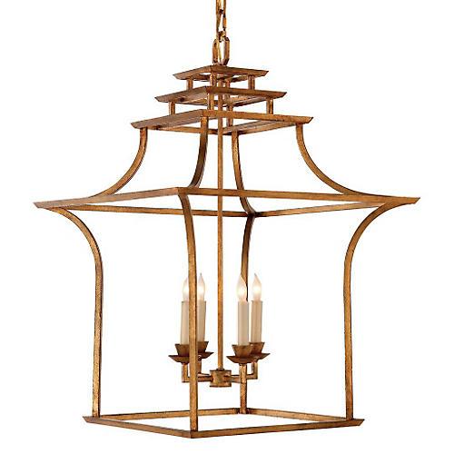 Brighton Pagoda Lantern, Gilded Iron