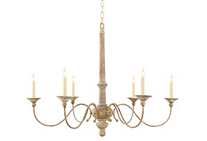 Country Small Chandelier, Belgian White*