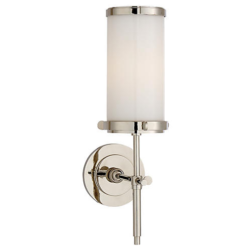 Bryant Sconce, Polished Nickel