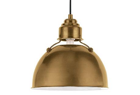 Eugene Large Pendant, Brass