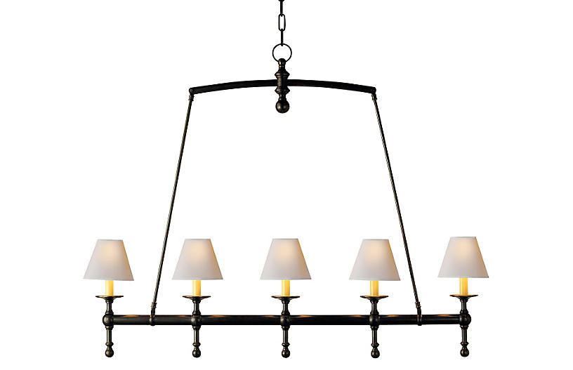 Linear Chandelier, Bronze