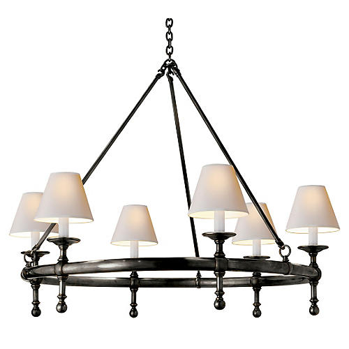 Classic Ring Chandelier, Bronze