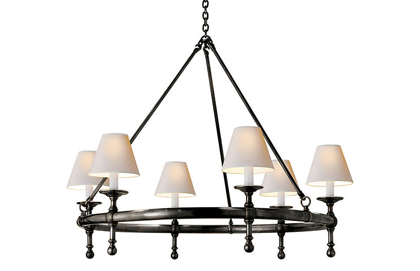 Classic Ring Chandelier - Bronze - Visual Comfort & Co.