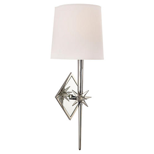 Etoile Sconce, Polished Nickel