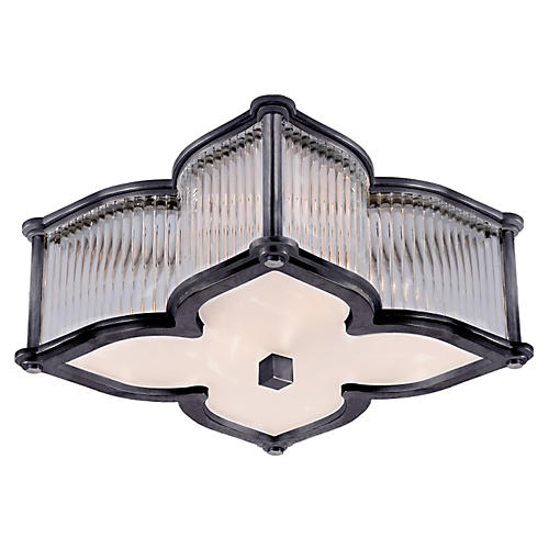 Lana Small Flush Mount, Gun Metal