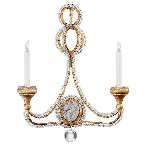 Milan Crystal Sconce, Venetian Gold