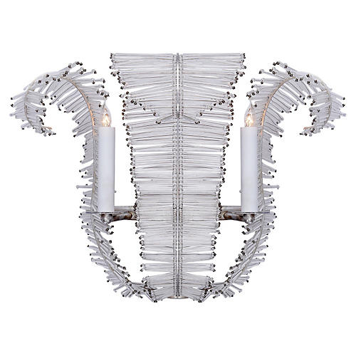 Calais Medium Sconce, Silver