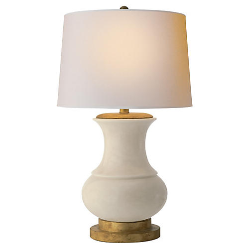 Deauville Table Lamp, Tea Stain