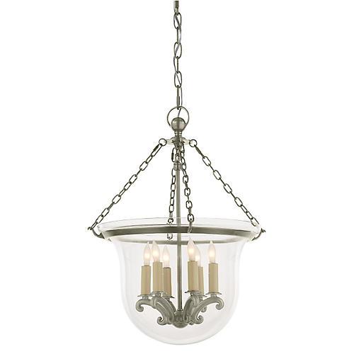 Country Bell Jar Lantern, Nickel