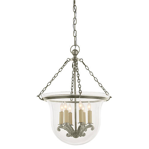 Country Bell Jar Lantern, Nickel