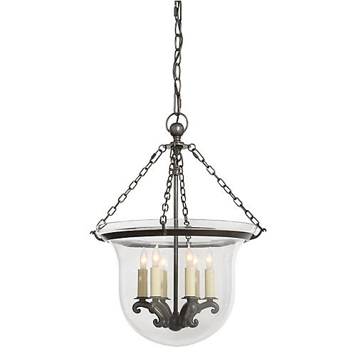 Country Bell-Jar Lantern, Bronze