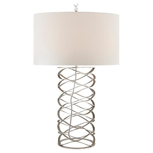 Bracelet Table Lamp, Silver