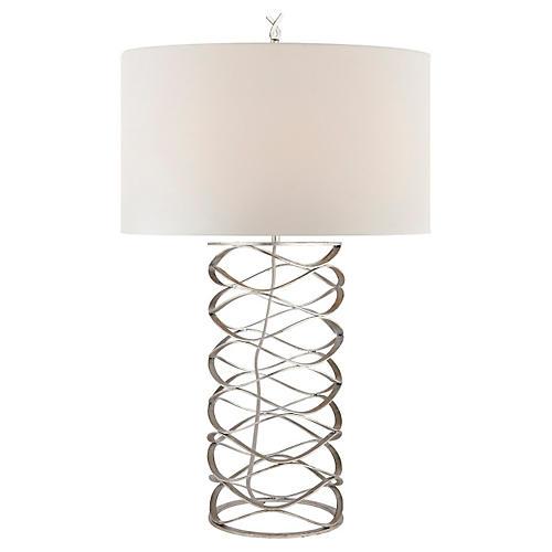 Bracelet Table Lamp, Silver