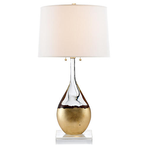 Juliette Table Lamp, Gilded Crystal