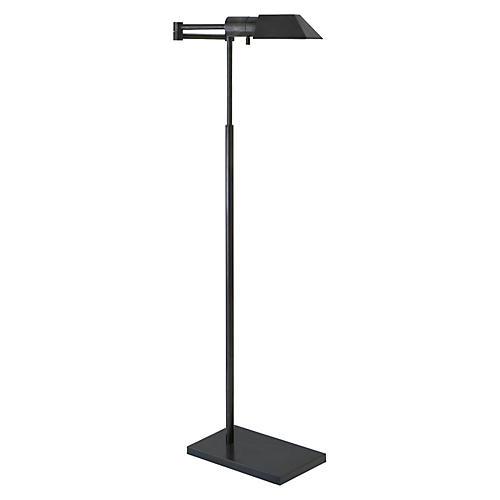Studio Swing Arm Floor Lamp, Bronze