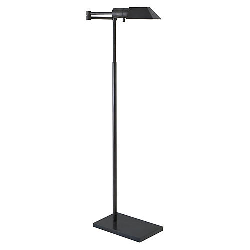 Studio Swing Arm Floor Lamp, Bronze