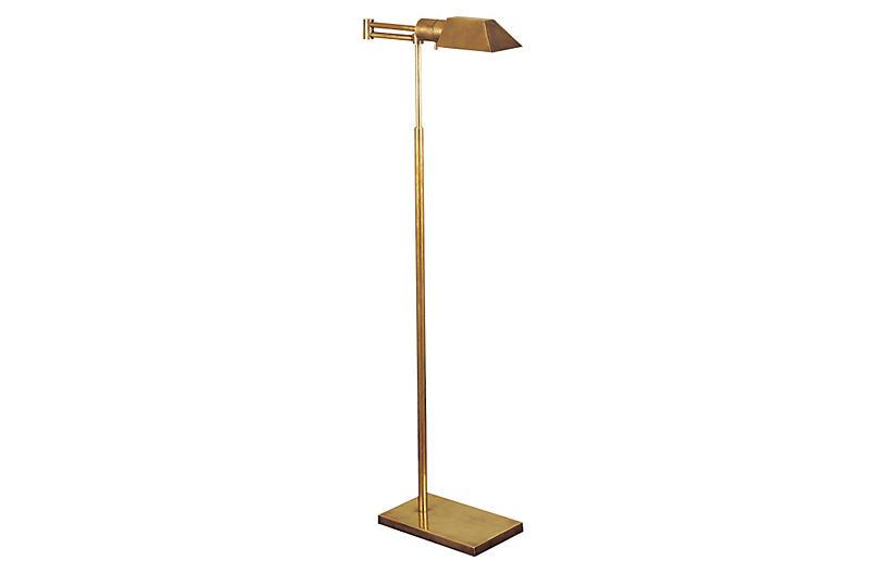 OKL Buyer Floor Lamp, Antique Brass