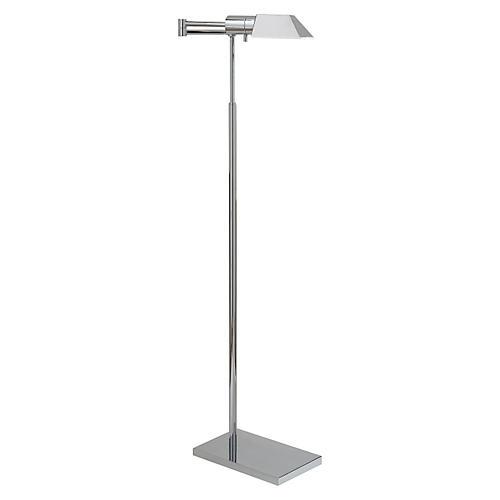 Swing Arm Floor Lamp, Polished Nickel
