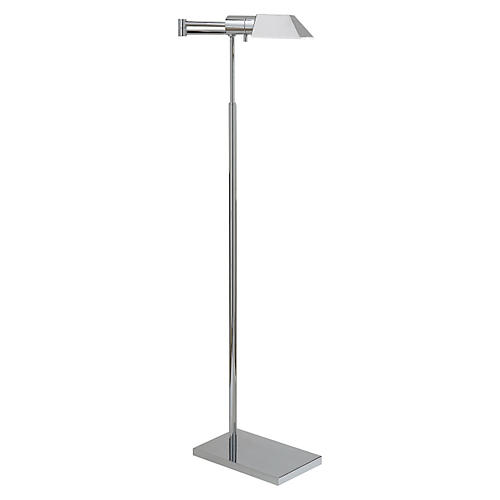 Swing Arm Floor Lamp, Polished Nickel