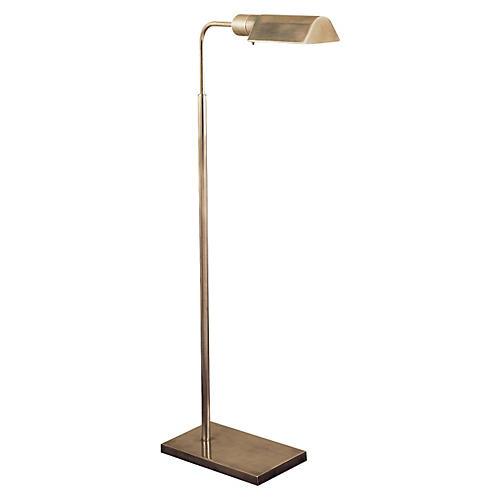 Swing-Arm Floor Lamp, Antiqued Nickel