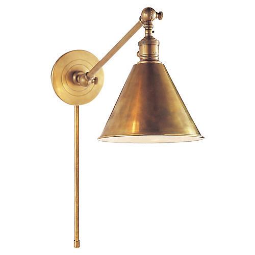 Boston Library Light, Antiqued Brass