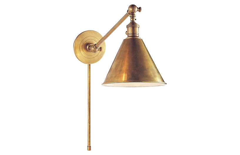Boston Library Light - Antiqued Brass - Visual Comfort & Co.