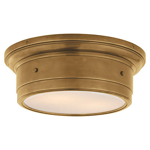 Siena Flush Mount, Antiqued Brass