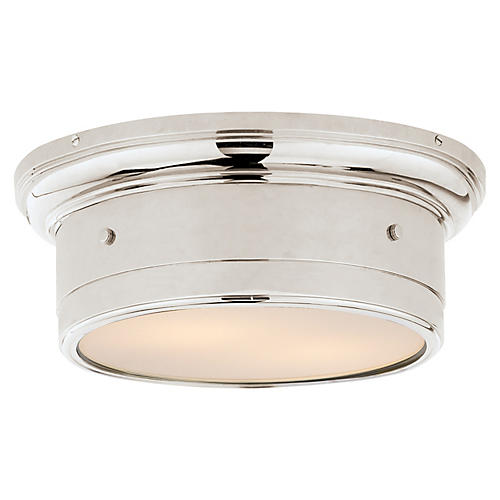 Siena Flush Mount, Polished Nickel