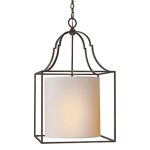 Gustavian Lantern, Aged Iron