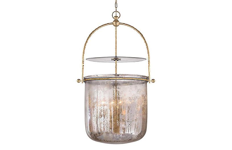 Lorford Smoke Bell Lantern, Gilded Iron