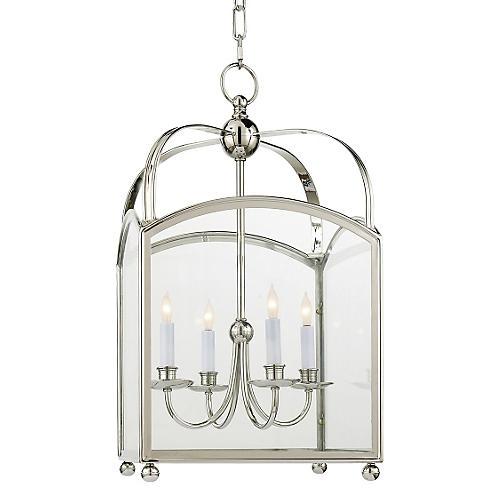 Arch Top Lantern, Polished Nickel