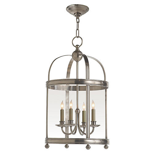 Edwardian Lantern, Antiqued Nickel