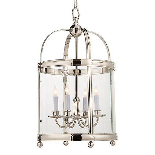 Edwardian Lantern, Polished Nickel