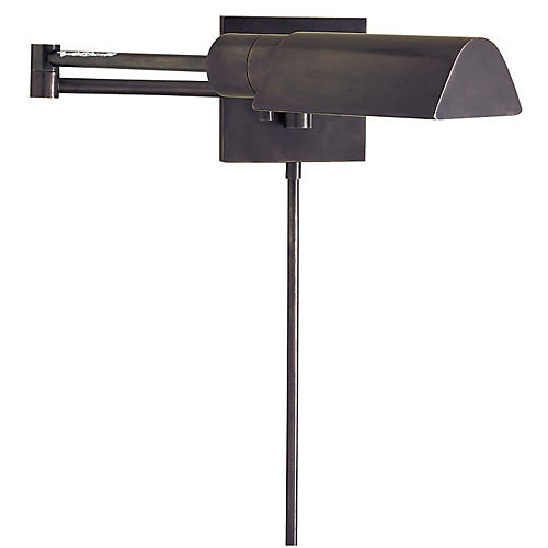 Studio Swing Arm Wall Light, Bronze