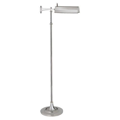 Dorchester Floor Lamp, Polished Nickel