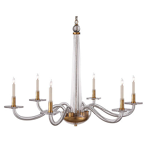 Robinson Large Chandelier, Brass