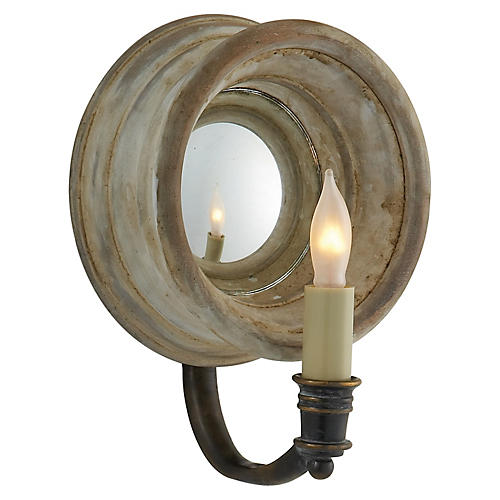 Chelsea Reflection Sconce, Old White