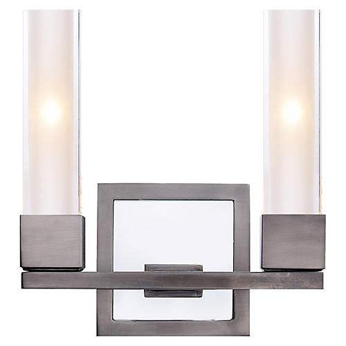 Kendal Double Sconce, Antiqued Nickel