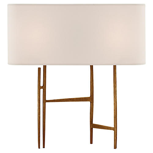 Vail Table Lamp, Gilded Iron