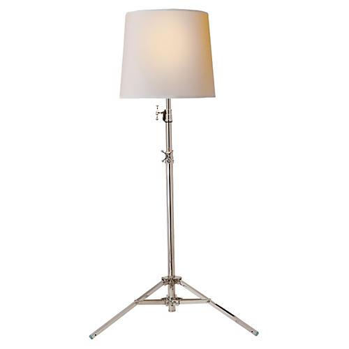 Studio Floor Lamp, Polished Nickel