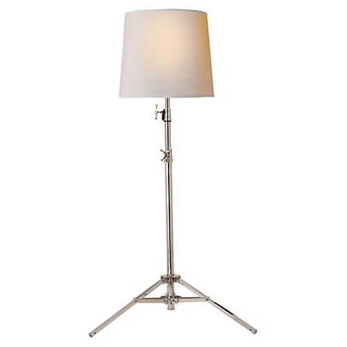 Studio Floor Lamp, Polished Nickel